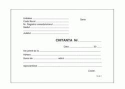 Chitantier autocopiativ A6, 3 exemplare