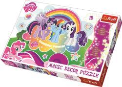 Trefl Magic Decor - My Little Pony: Én kicsi pónim 15 db-os foszforeszkáló puzzle (14605)
