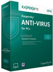 Kaspersky Anti-Virus 2014 EEMEA Edition (1 User, 1 Year) KL1154OCAFS