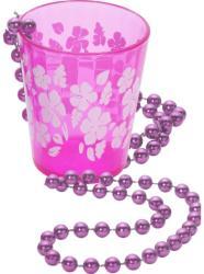 Pink féldecis pohár lánccal