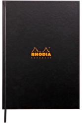 Clairefontaine Rhodia notesz, vonalas (keményfedeles, 96lap, A4), fekete