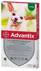 BAYER Advantix Spot On 4kg Alatt 0.4ml (4db)