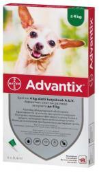 BAYER Advantix Spot On 4kg Alatt 0.4ml (4db)