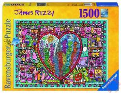 Ravensburger James Rizzi: Minden ami szeretet a város közepén 1500 db-os (16295)