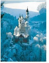 Ravensburger Castelul Neuschwanstein Iarna 1500 16219