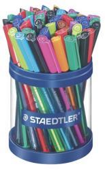 STAEDTLER Ball golyóstoll, 0.5mm, M, kupakos - vegyes élénk színek (TS43235MKP50)