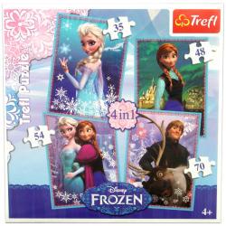 Trefl Disney hercegnők: Jégvarázs 4 az 1-ben (34210)