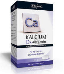 Interherb Kalcium + D3 vitamin (60db)