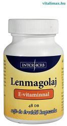 Interherb Lenmagolaj E-vitaminnal - 48 db