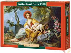 Castorland Fiatal nő kutyával 1500 db