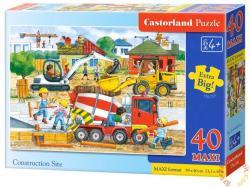 Castorland Maxi Puzzle - Az építkezésen 40 db-os (B-040018)
