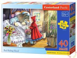 Castorland Maxi Puzzle - Piroska és a farkasnagyi 40 db-os (B-040070)