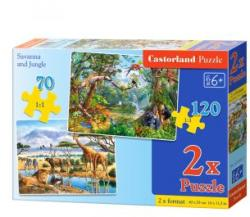 Castorland Szavanna és dzsungel 70+120 db