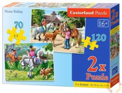Castorland 2 az 1-ben puzzle - Lovas vágta 70 és 120 db-os (B-021062)