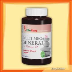 Vitaking Multi Mega Mineral tabletta D-vitaminnal (90db)