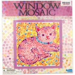 4M Ablakra ragasztható cica mozaikkép készítő
