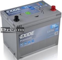 Exide Premium 75Ah jobb (EA754)