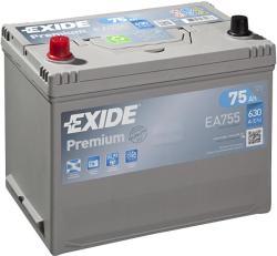 Exide Premium 75Ah 630A bal+ (EA755)