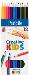 ICO Creative Kids Színes ceruza hajlékony 12db
