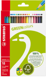 STABILO Színes ceruza GreenColours 18db