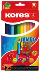 KORES JUMBO színes ceruza 12db