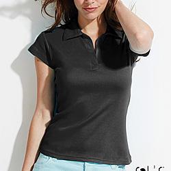 Sols 11325 Pretty női galléros póló - színes