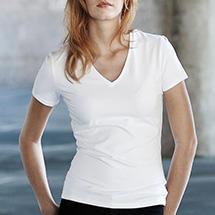 Vásárlás  Kariban K327 Electra V nyakú póló - fehér Női felső ed1c962572