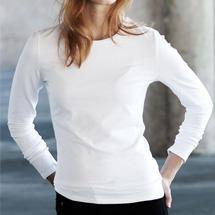 Vásárlás  Kariban K328 Carla kereknyakú hosszúujjú póló - fehér Női ... b455574daa