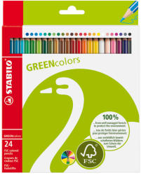STABILO Színes ceruza GreenColours 24db