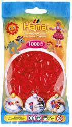 Hama Midi gyöngy 1000db-os - piros, átlátszó