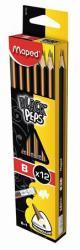 Maped BLACK`PEPS Grafitceruza radírral B 12db