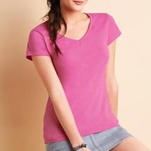 Gildan 64V00L V nyakú női póló - színes