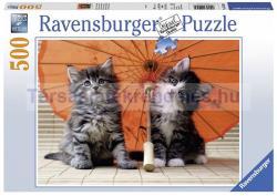 Ravensburger Kiscicák esernyő alatt 500 db-os (14256)