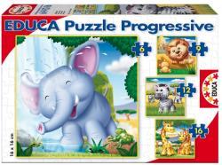 Educa Vadállatok 4 az 1-ben puzzle - 6,9,12, 16 db-os (15619)
