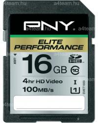 PNY Elite Performance SDHC 16GB Class 10 SD16G10ELIPER-EF