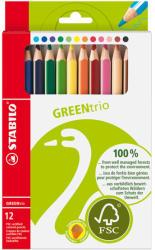 STABILO Színes ceruza GREENtrio 12db