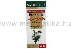 Naturland Propolisz+C-vitamin tabletta - 20 db