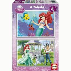 Educa Disney - Ariel, a kis hableány 2 x 20 db-os (15594)