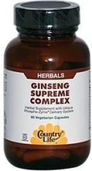 Country Life Ginseng Supreme Complex - 60db