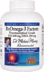 Natural Factors RxOmega-3 Factors - 120db