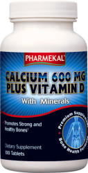 Pharmekal Calcium 600mg Plus Vitamin D - 100db