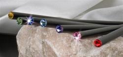 Swarovski Ceruza Element Peridot Kristállyal