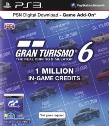 Sony Gran Turismo 6 - 1 million in game credits