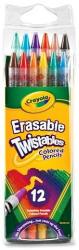 Crayola Színes ceruza radírvégű csavarozható 12db