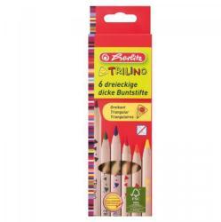 Herlitz Színes ceruza Trilino 6db