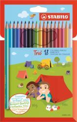 STABILO Trio színes ceruza vastag 18db