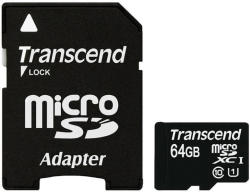 Transcend microSDXC 64GB Class 10 UHS-I TS64GUSDU1