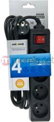 Whitenergy 4 Plug 3m Switch (08405)