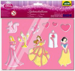 LENA 17 db-os rajzolósablon - Disney hercegnők