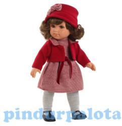 Llorens Elena baba piros ruhában - 35 cm